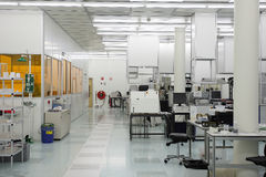 Hi-tech clean room. Facility for nano techology and semi-conductor research stock image