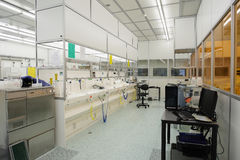 Hi-tech clean room. Facility for nano techology and semi-conductor research royalty free stock photos