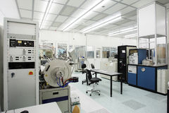 Hi-tech clean room. Facility for nano techology and semi-conductor research stock photos