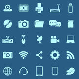 Hi-tech color icons on blue background Stock Photography