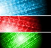 Hi-tech colorful banners Stock Image