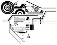 Hi-tech composition Stock Image