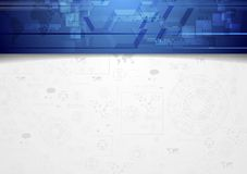 Hi-tech corporate background with blue header Royalty Free Stock Images