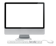 Hi-Tech Desktop Computer Set Frontal Shot Royalty Free Stock Images