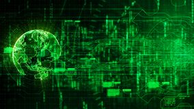 Hi-tech digital abstract background with technology gear and Ear Stock Photography