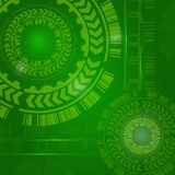 Technology Background high computer technology. Hi-tech digital concept technology. Vector abstract illustration gear wheel engineering telecoms futuristic Royalty Free Stock Photography