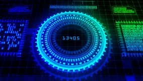 Hi-Tech digital display holographic abstract background royalty free stock images
