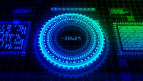 Hi-Tech digital display holographic abstract background royalty free stock photo