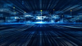 Hi-Tech digital display holographic information abstract background royalty free stock photo