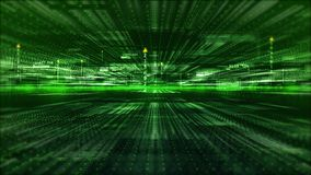 Hi-Tech digital display holographic information abstract background stock photo