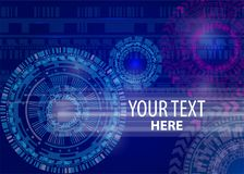 Technology Background high computer technology. Hi-tech digital high computer technology. Vector abstract illustration gear wheel engineering telecoms futuristic Stock Photo