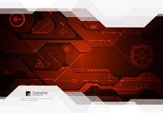 Hi-tech digital technology and engineering background. Vector Stock Photo