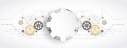 Hi-tech digital technology and engineering, digital technology stock illustration