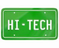 Hi-Tech Digitale Auto Automobi van de Nummerplaat de Moderne Nieuwe Technologie Stock Fotografie