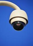 Hi-tech dome type camera over blue sky Royalty Free Stock Photos