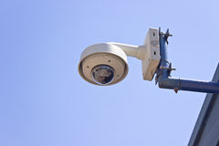 Hi-tech dome type surveillance camera Royalty Free Stock Images