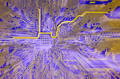 Hi-tech electronic abstract background. High technological electronic circuit board abstract background Royalty Free Stock Photos