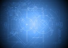 Hi-tech Engineering Drawing Stock Photography