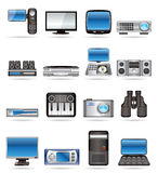 Hi-tech equipment. Hi-tech and technical equipment icons - vector icon set 2 Royalty Free Stock Photography