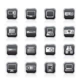 Hi-tech equipment icons Stock Photos