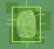 Hi tech fingerprint composition Stock Image