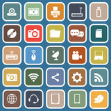 Hi-tech flat icons on blue background Royalty Free Stock Image