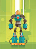 Hi Tech Futuristic Robot royalty free illustration