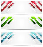 Hi-tech geometric abstract banners Royalty Free Stock Image
