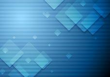 Hi-tech geometric dark blue background Royalty Free Stock Photography