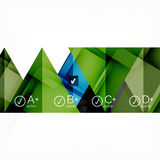 Hi-tech geometric futuristic business background Stock Photo