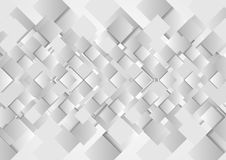 Hi-tech geometric grey squares vector design Royalty Free Stock Image