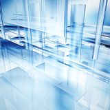 Hi-tech glass. An abstract illustration of hi-tech glass layers Royalty Free Stock Photography