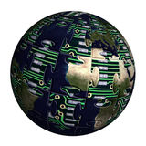 Hi-tech globe Royalty Free Stock Images
