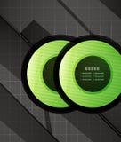 Hi-tech glossy futuristic shapes Stock Photo