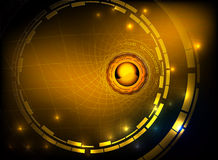 Hi tech gold abstract background Royalty Free Stock Images