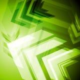 Hi-tech green arrows abstact background Royalty Free Stock Photos