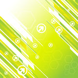 Hi-tech green background. Clip-art Royalty Free Illustration