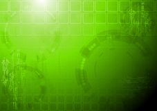 Hi-tech green background Stock Photos