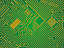 Hi-tech green industry electronics vector backgrou Stock Image