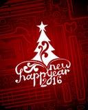 Hi-tech greeting new year card Royalty Free Stock Photos
