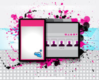 Hi tech and grunge style business website royalty free illustration