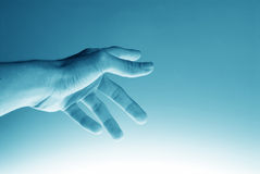 Hi-Tech Hand Background. Hi-Tech Pointing hand background. Great as a background or a design element stock photos