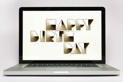 Hi-tech Happy birthday Stock Image