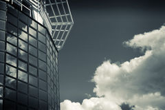 Hi-tech and heaven.business building Stock Image