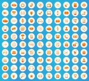 Hi-Tech icons round set Stock Photos