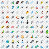 100 hi-tech icons set, isometric 3d style. 100 hi-tech icons set in isometric 3d style for any design vector illustration Vector Illustration
