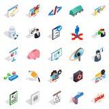 Hi tech icons set, isometric style Royalty Free Stock Photo