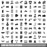 100 hi-tech icons set, simple style. 100 hi-tech icons set in simple style for any design illustration stock illustration