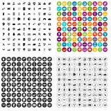 100 hi-tech icons set vector variant. 100 hi-tech icons set vector in 4 variant for any web design isolated on white Stock Photography