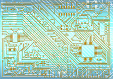 Hi-tech industrial electronic background Royalty Free Stock Images